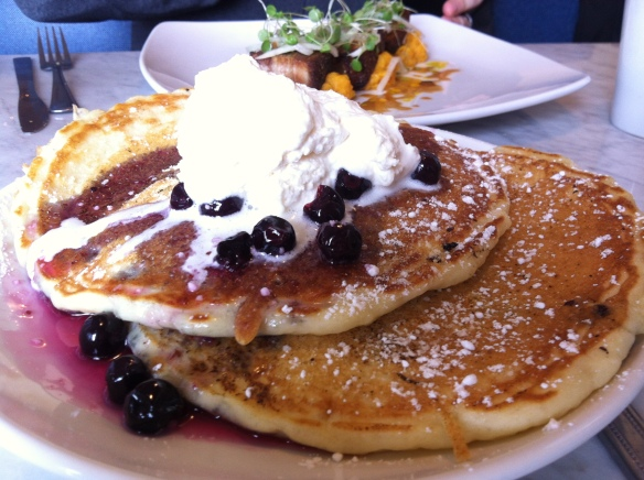 blue door.pancakes